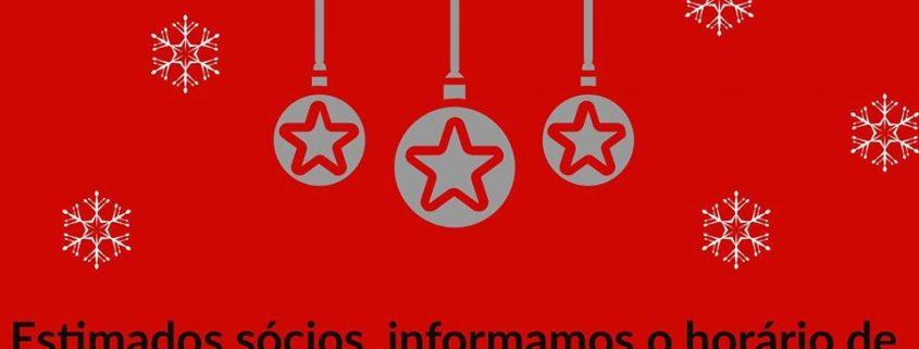 Horário de Natal e Ano Novo